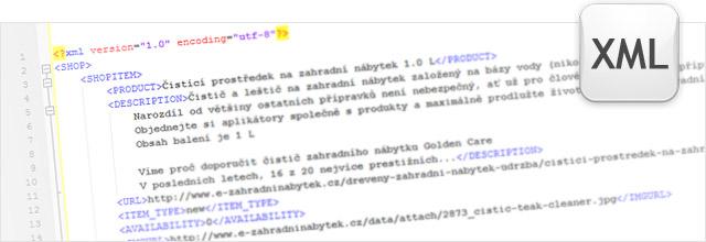 XML výstup pro srovnávačů zboží - Zboží.cz, Heuréka.cz, Google Nákupy